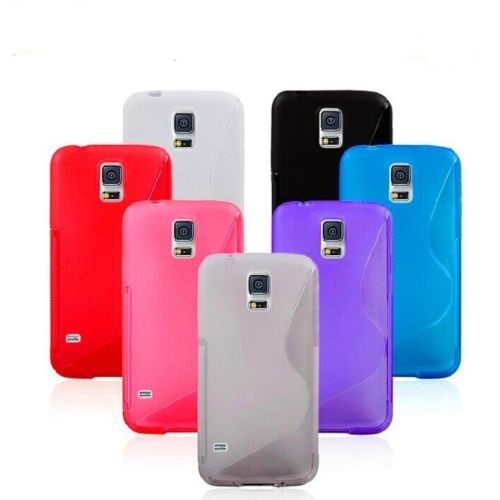 S Line Wave Gel Soft TPU Cover Case Flexible Skin for Samsung Galaxy S5/ Galaxy S5 Neo