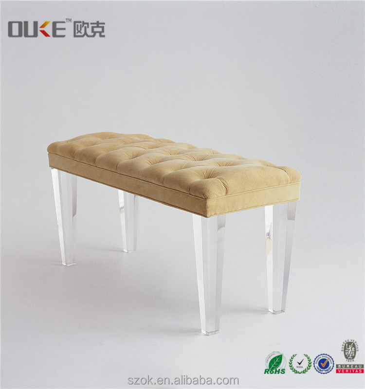custom made high quality clear acrylic table leg for furniture