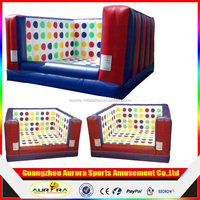 custom made family game inflatable twister game , juegos inflables inflatable twister mattress for adult