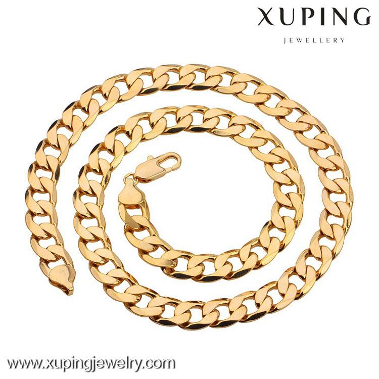 40879 Xuping Gold Plated Chain Jewelry, Fashion Men Necklace For Men