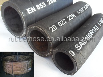Alibaba Wholesale excellent material industry rubber hydraulic hose pipe r2