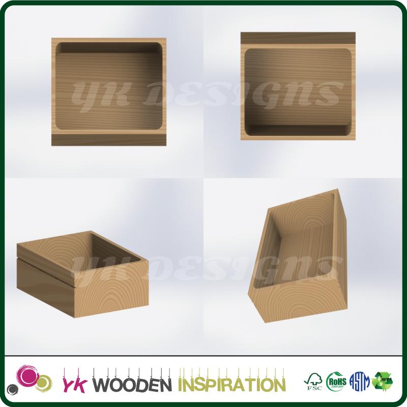 muestra caja de joyera de madera para la decoracin