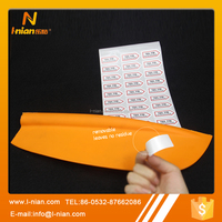 custom print leave no residue easy peel off removable label stickers for oars