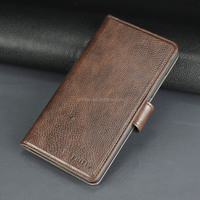Dark brown PU leather case,3 card slots 1 wallet,business and grave for Huawei Honor5X