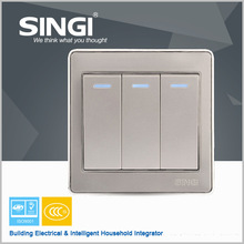 UL/CE Australian wall switch and socket residential illuminated single pole electric wall switch