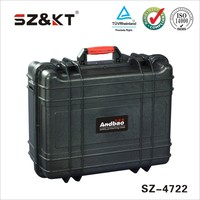 Rugged waterproof transparent military case with custom foam