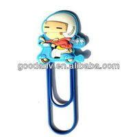 Customized promotional gifts Soft Pvc Book Mark / Paper Clip