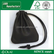 Luxury PU Leather Drawstring Jewelry Pouch,leather pouch for jewelry
