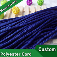 5mm Colored Braided Round Polyester Cord for Clothese