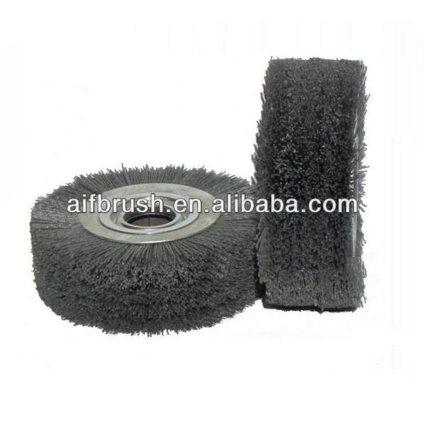 "8"" Medium Wide nylon abrasive wheel brush"