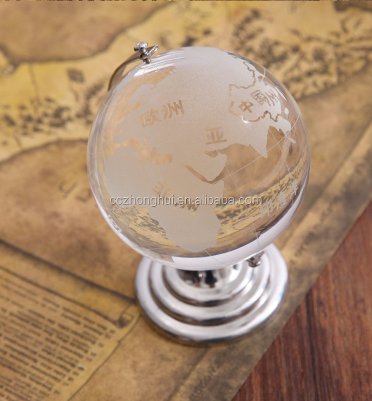 2017 Popular crystal global ,hanging crystal ball