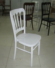 Wholesale Top Quality Gold Solid Wood Stacking Chateau Hotel Chair