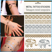 2016 Promotion Flash Tattoo Jewelry Inspired Metallic Temporary Tattoos