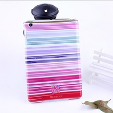 For ipad mini stripes hard imd cover glossy plastic mini laptop case
