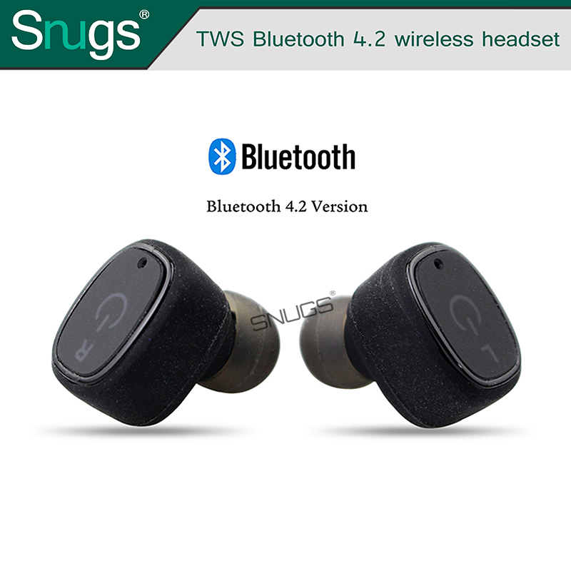 True Wireless Earbuds with Charging Case , Mini Wireless Bluetooth TWS Earbuds with Mic for iphone 7