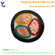 4 core 95mm 120mm 0.6 /1KV Copper Core PVC Insulated Armoured Cable LV Underground Power Cable