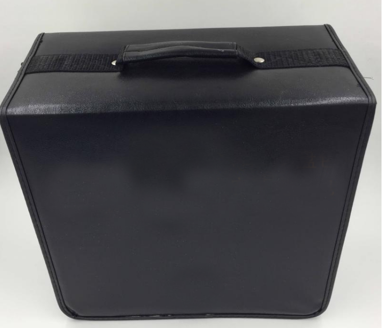 wholesale faux leather cd organizer and storage binder bag