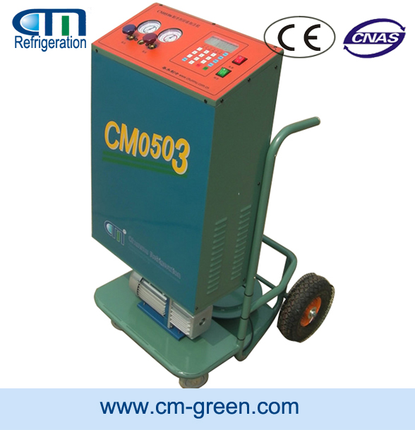 R134a recovery and charging station gas refrigerant R410A/R22/R407C trolley refrigerant vacuum machine CM05