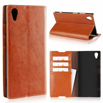 Best Products Cell Phone Accessory Luxury Real Leather Book Wallet Phone Cover For Sony Xperia XA1 Plus Case