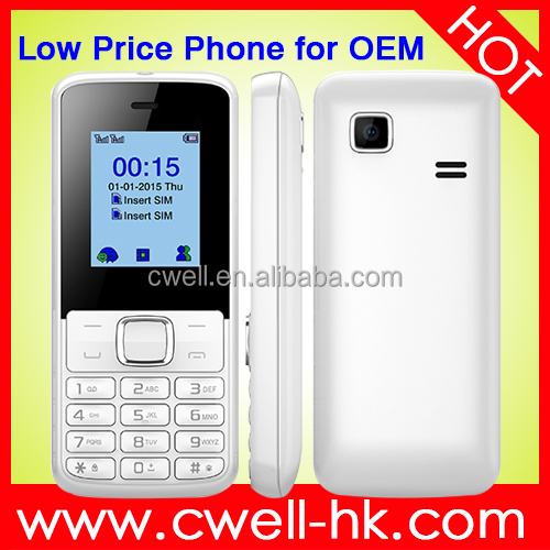 1.77 inch Cheap Mobile Phone Support FM Radio Dual Sim Card 2G GSM Unlocked Directly From Factory OEM