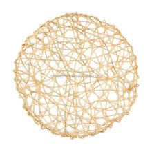 New Round Gold Rope Mesh Placemats