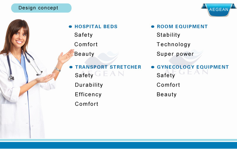 High quality products10-part steel bedboards multifunctional hospital beds at home