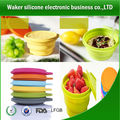 silicone travel food steamer&silicone collapsible bowl &Foldable silicone bowl