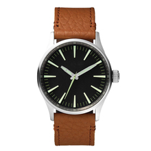 Luxury men custom logo japan movement genuine leather china watch factory