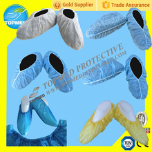 PP non woven 20g,25g,30g disposable waterproof shoe cover for cleaning room,laboratory and food processing