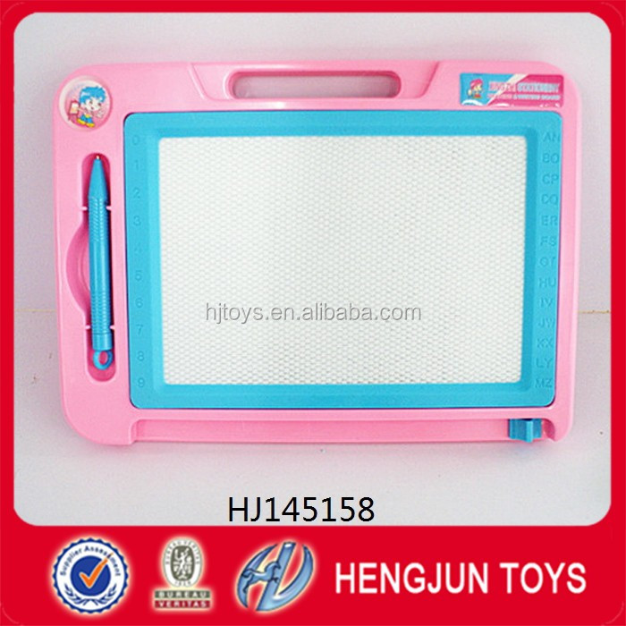Eco-friendly plastic kid toys magnetic writing board toy