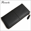 Oem fashion long lady leather wallet woman designer purse for wholesale