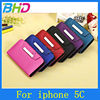 left or right flip with Magnet for iphone 5c pu leather case