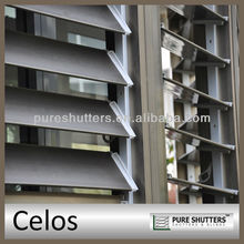 Celos 152mm blade louver shutter sun shade decorative blinds windows