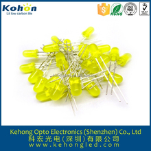 Rohs approval 2015 new products high bright yellow 5mm roundt led diode