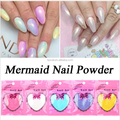Fashion Mermaid Effect Glitter Nail Art Powder for nail decoration