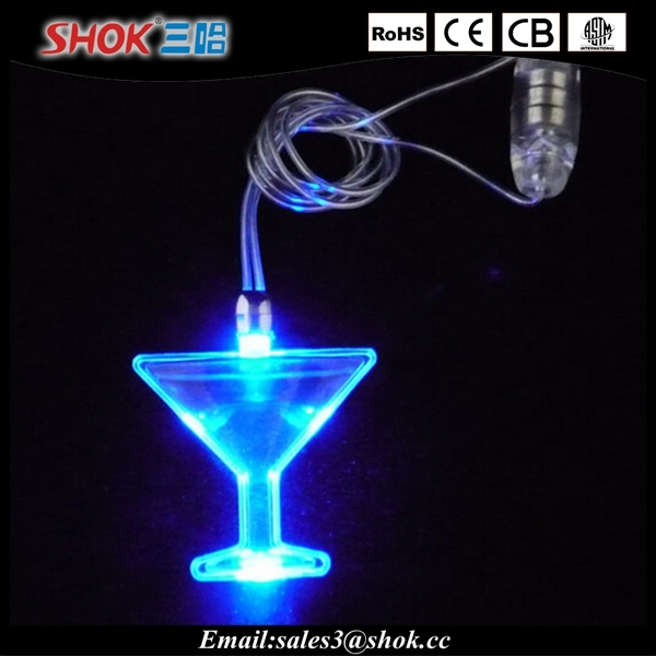 Led flash light necklace battery operated necklace