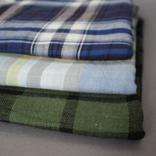 hot selling cheaper price Cotton check shirt fabric stocklot in alibaba china