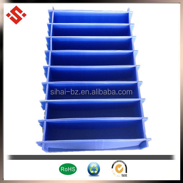 China supplier pp corfulted plastic box divider
