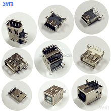 type a type b plug pcb smt dip socket USB to mini or micro USB cable connector