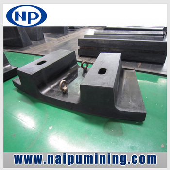 Naipu Wear Resistant Rubber Mill Liners Middle Pan Liner for Mining Grinding Mill Ball Mills