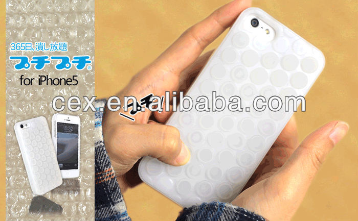 For Apple iPhone 5 5s New Arrival Great Creative Design Soft Silicone Bubble Wrap Case