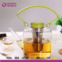 2016 New Arrival Useful Promotional Christmas Gift Customized Heat Resistant Borosilicate Glass Tea Kettle