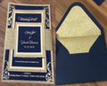 Amazing Hot Stamp Elegant Glitter Wedding Invitations | Shimmery Wedding Cards