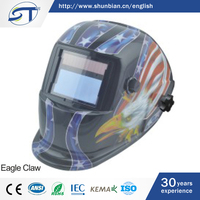 SHUNTE Low Price High Quality Solar Auto Adjustable Darkening Ac Welding Helmet