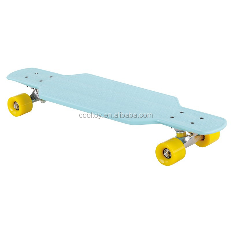 New products no maple plastic longboard 29inch with good quality bearing