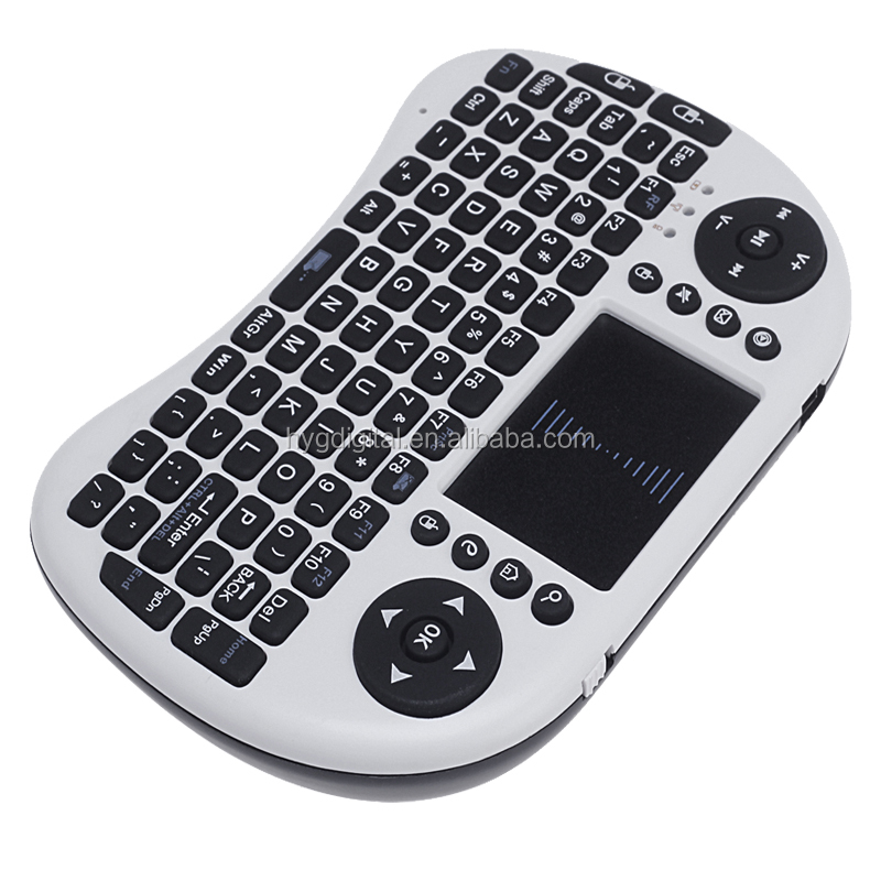Wireless Mini Keyboard 2.4Ghz wireless Build in battery Built-in high sensitive smart touchpad with lithium battery