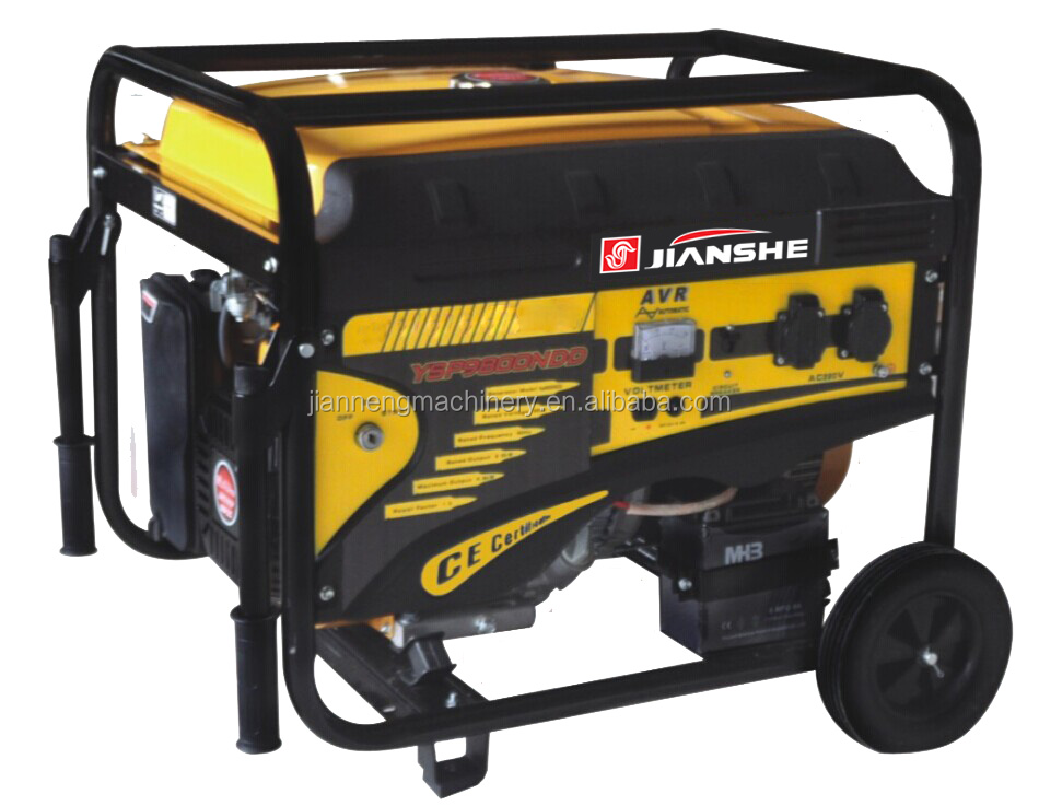 JIANSHE(CHINA) 4kw Fuel Save Easy Move With Wheels Gen Power Electric Portable Generator