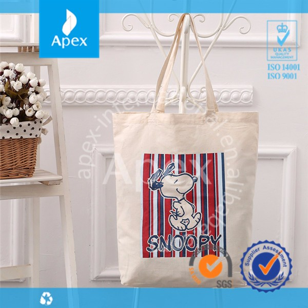 Eco friendly cotton tote shopping bag