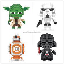 LON Stars Wars Mini Building Block, starwars Action Figures Nano Brick Toy for kids studying