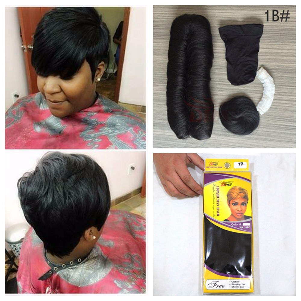 Dlme 27 Pieces Bump Hair Weaving Extension With Free Closure And Cap